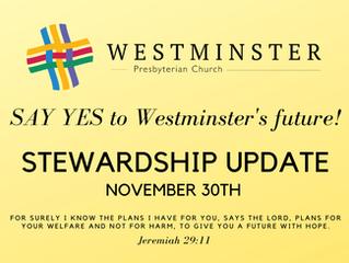 Stewardship Update, November 30, 2020