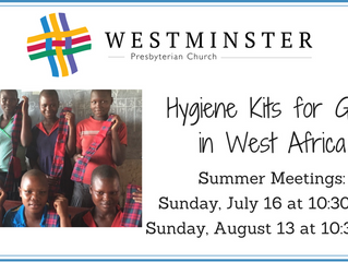 Hygiene Kits for Girls in West Africa