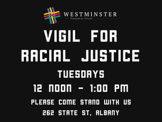 Vigil for Racial Justice Resumes