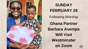 Ghana Partner Barbara Asempa Will Visit Westminster