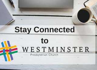 Stay Connected to Westminster!