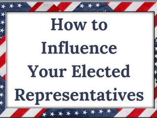 How to Influence Your Elected Representatives: A Personal Blog