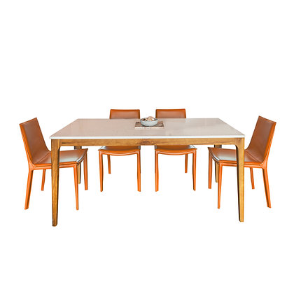 BUNDLE Quartz Classic Serie Dinner Table with 4 Loi Chairs