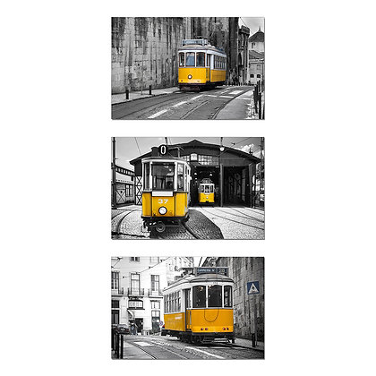 Acrylic Frame (Yellow Trains Set)
