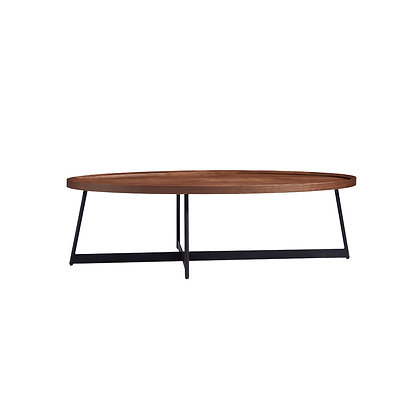 Oval Wood Coffee Table (Display Piece)