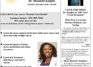 Cancer & The Immune System Dinner Talk
