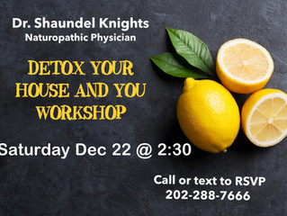 FREE WORKSHOP : detox your home with essential oils and ozone ! Free samples given .
