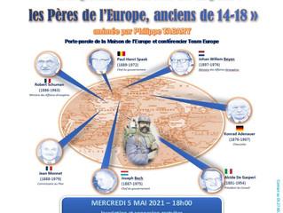 Visioconférence « Des poilus au service de la paix : les pères de l'Europe, anciens de 14-18 »