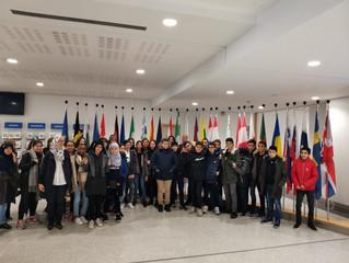 Visite du Parlement européen à Bruxelles pour le lycée Averroès de Lille
