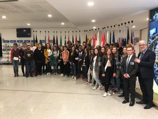 Découverte du Parlement européen pour le collège Pierre Sellier de La Capelle !