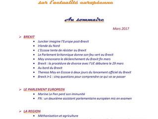 Revue de presse sur l'actualité européenne du mois de mars 2017 !