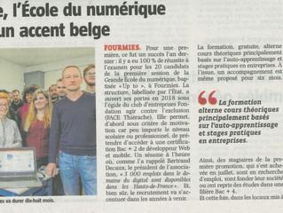 Fourmies : 90 000 € de l'Europe pour des stagiaires français et belges de la Grande Ecole du Num