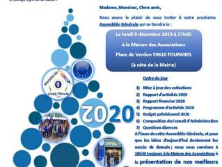 Lundi 9 décembre : Assemblée Générale et présentation des vœux de votre Maison de l'Europe !