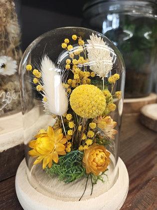 Petite Cloche de fleurs séchées