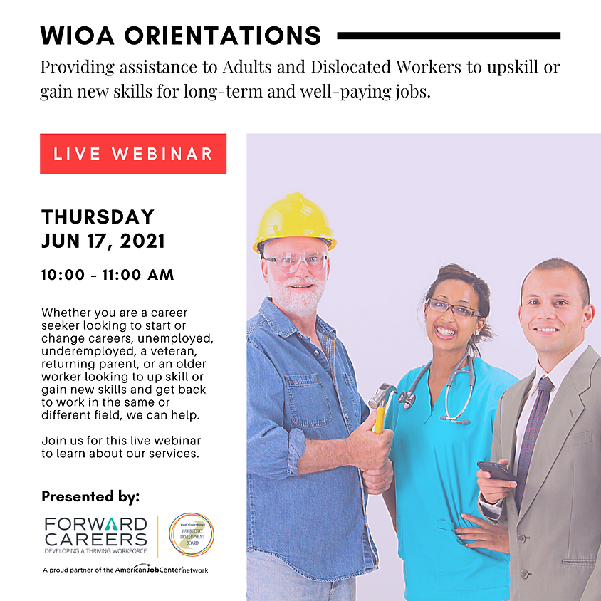 WIOA Orientation (Ages 25+)