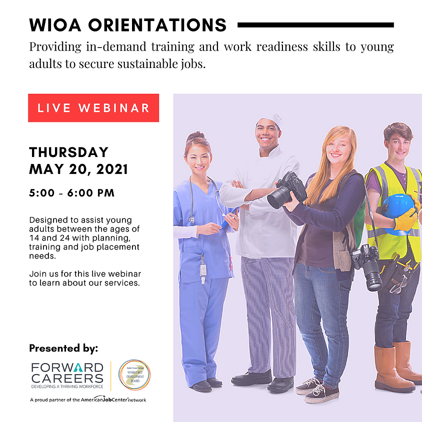 WIOA Orientation (Ages 16 - 24)