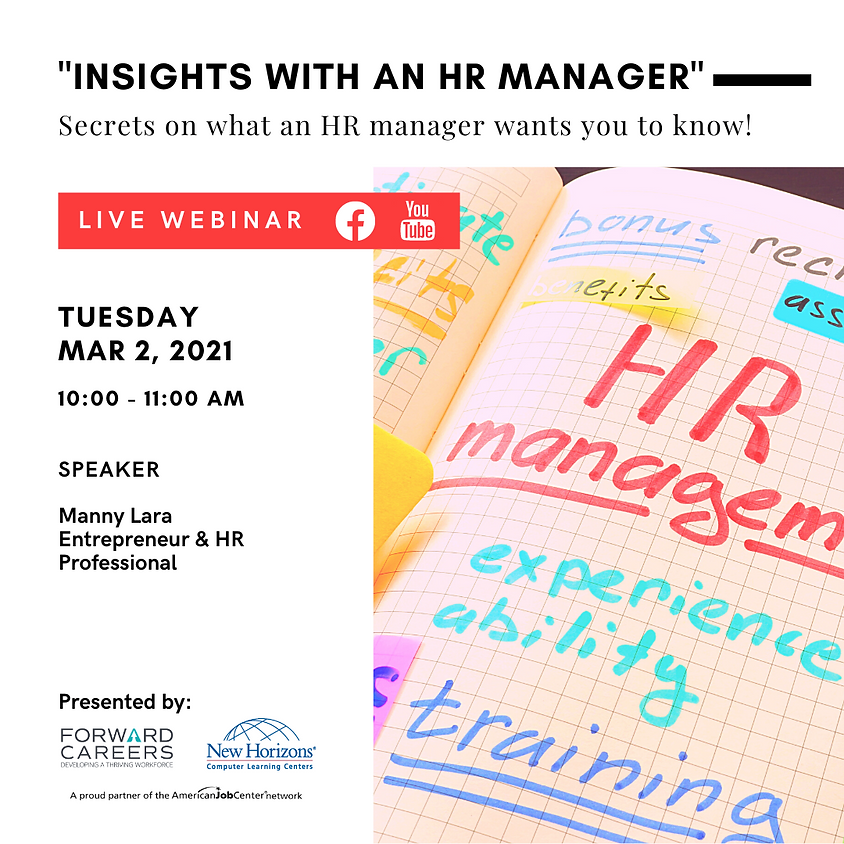 """""""Insights with an HR Manager"""""""