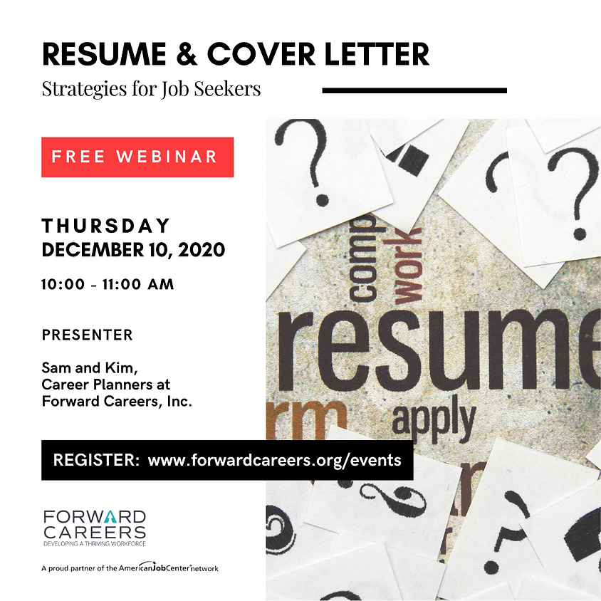 Resume & Cover Letter Strategies for Job Seekers