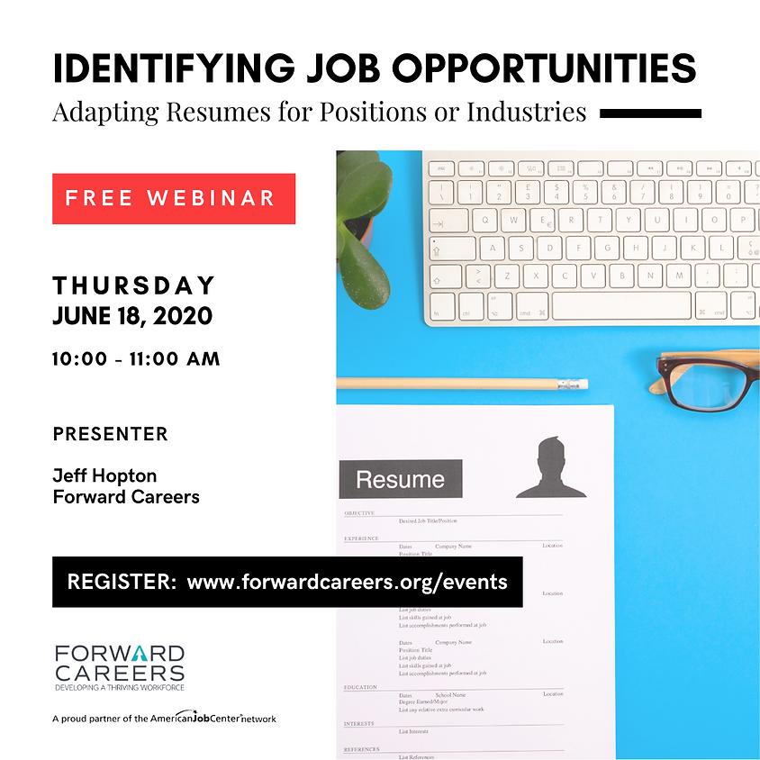 Identifying Job Opportunities