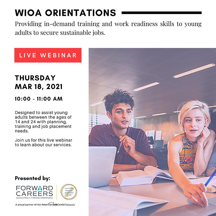 WIOA Orientation (Ages 16 - 24)