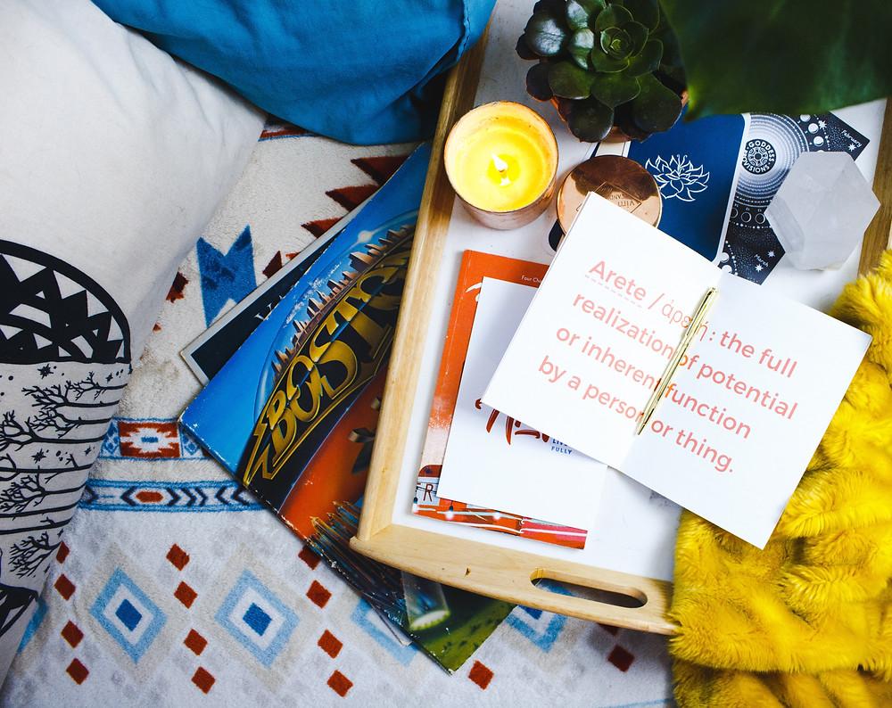 book, album, candle