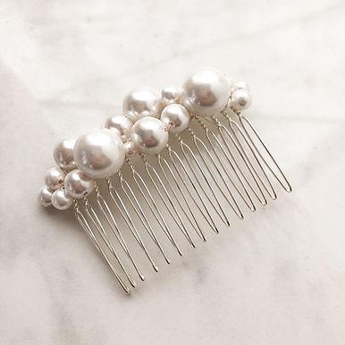 LUSTRE   Glass Pearl Bridal Comb