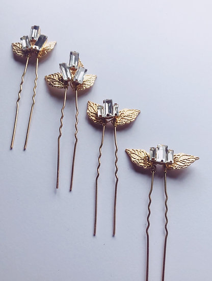HERMES Crystal Hair Pin Set