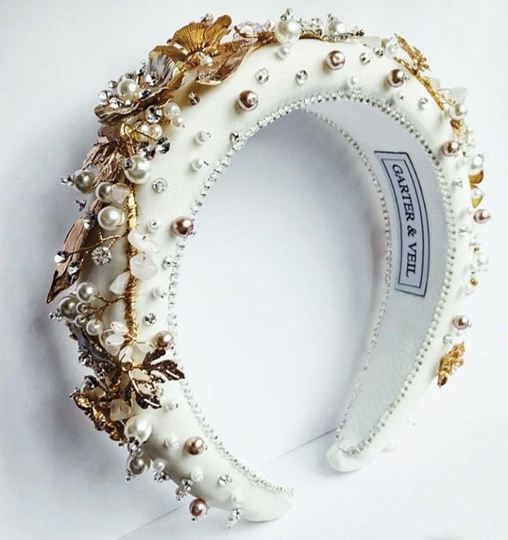 White embelished headband