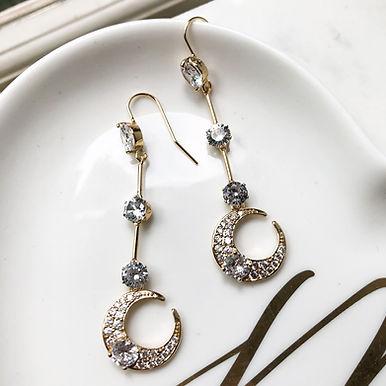 SELENE   Moon Drop Earrings