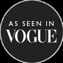 As seen in Vogue magazine logo