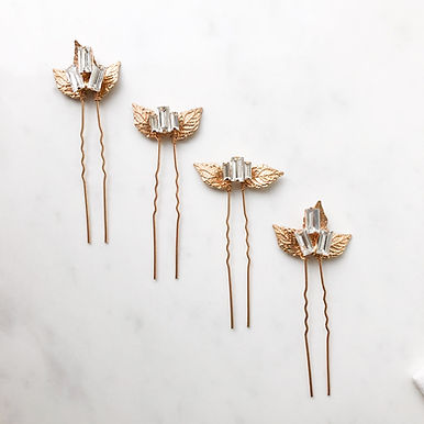 HERMES Crystal Hair Pin Set