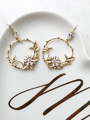 DAHLIA Gold Hoop Earrings