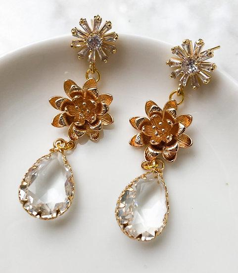 DAHLIA Crystal Earrings