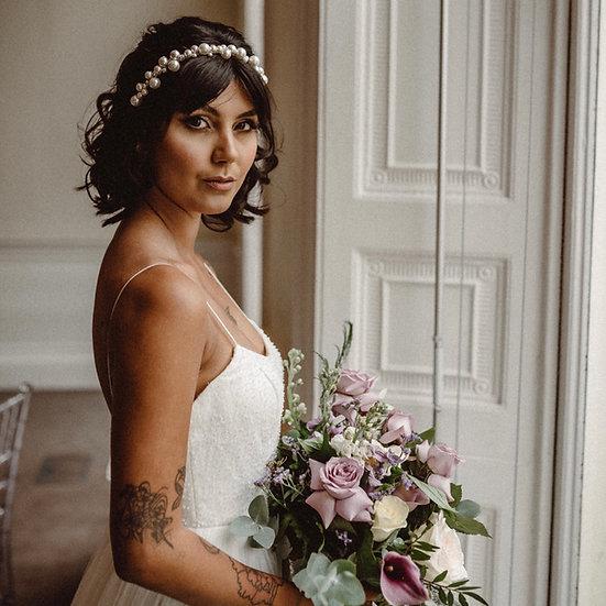 LUSTRE | Glass Pearl Bridal Crown