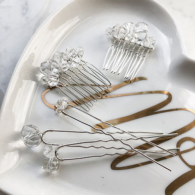 LUMOS Crystal Comb & Hairpin set