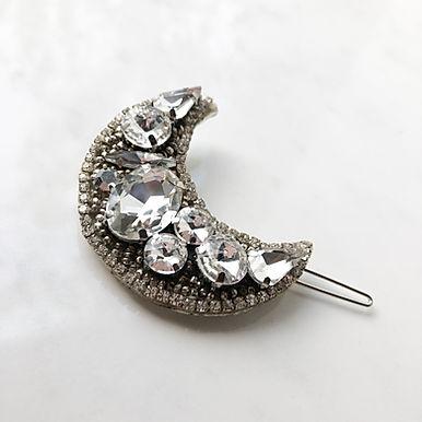 LUNA Moon Hair Clip Silver