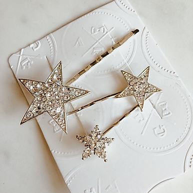 STELLAR Star Hair Pins (Silver)