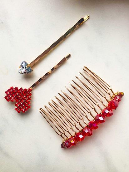 LOVE Pin & Comb Set
