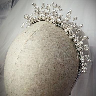 DIVINITY Pearl Crown Silver