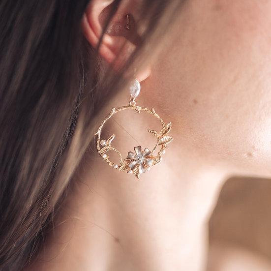 DAHLIA Hoop Earrings