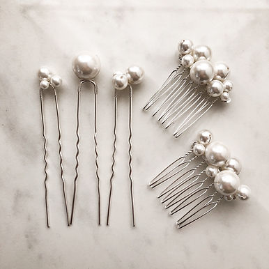 LUSTRE | Glass Pearl Comb & Hairpin Set