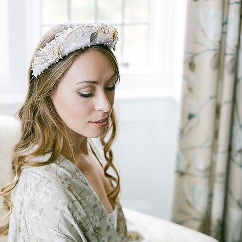 Bride in embellished headband