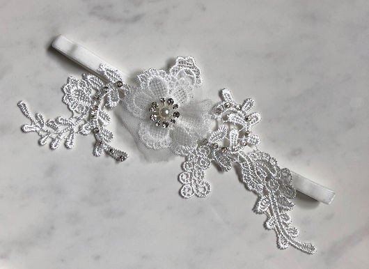 TULLE BEADED Lace Garter