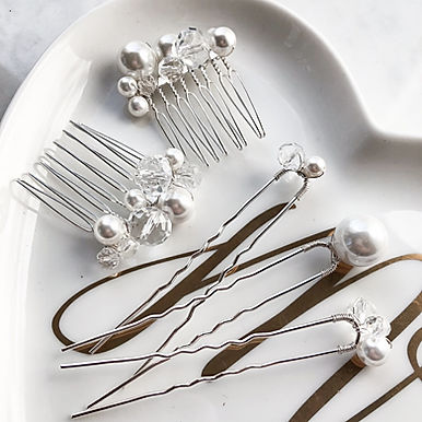 LUSTER Crystal Comb & Hairpin Set