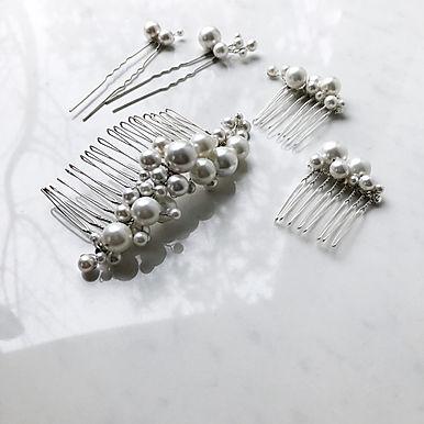 LUSTER Pearl Hair Comb Set