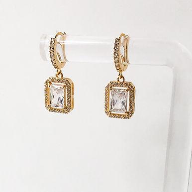 MARIA   Petit Crystal Hoop Earrings