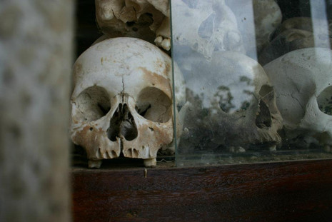 Killing Fields monument in Cambodia