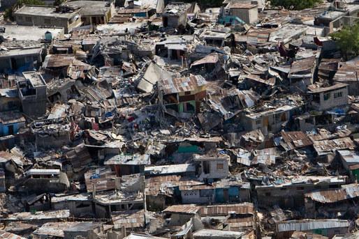 Haiti earthquake from helicoptor