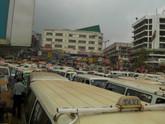 Bus stop in Uganda