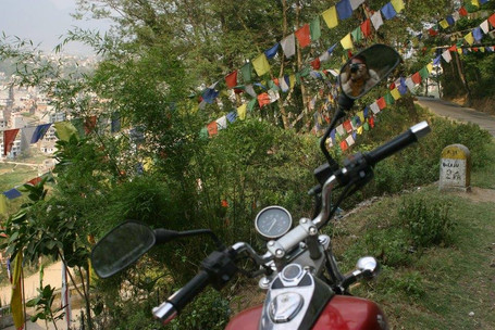 Motorcycle trip through Nepal